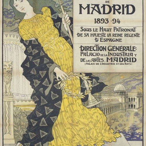 Eugène Samuel Grasset - Exposition Internationale de Madrid - 1893