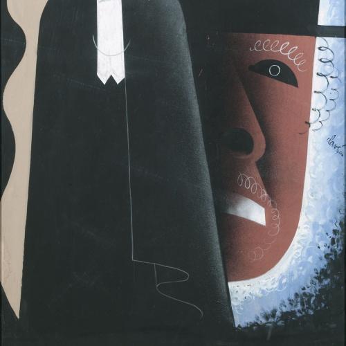 Antoni Clavé - El hombre y el monstruo (Dr. Jeckyll and Mister Hyde) - 1934