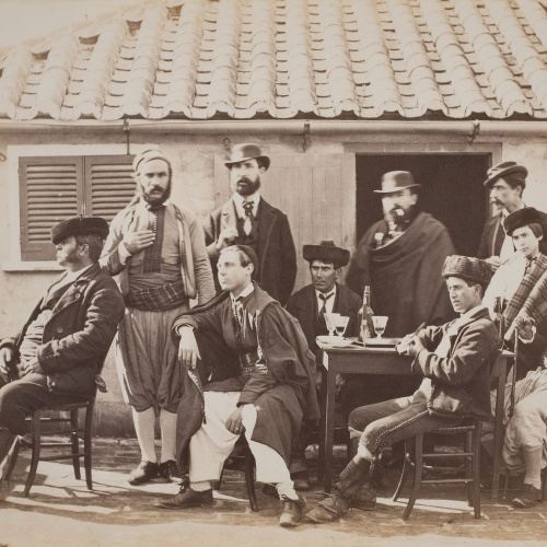 Robert Peters Napper - Group at a Spanish Café (Gibraltar) - Cap a 1860-1863