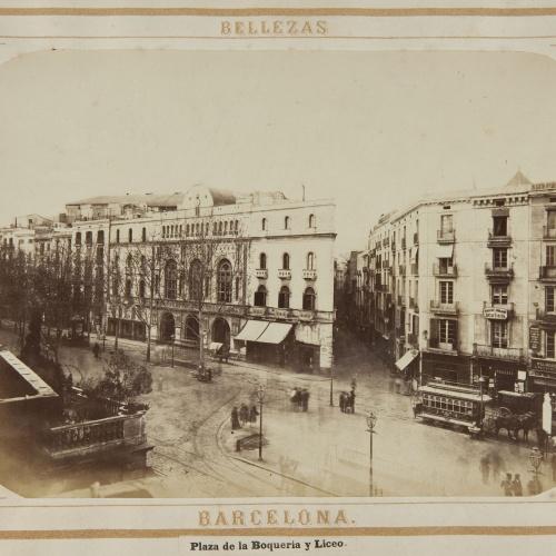 Joan Martí  - Plaza de la Boquería y Liceo - 1874