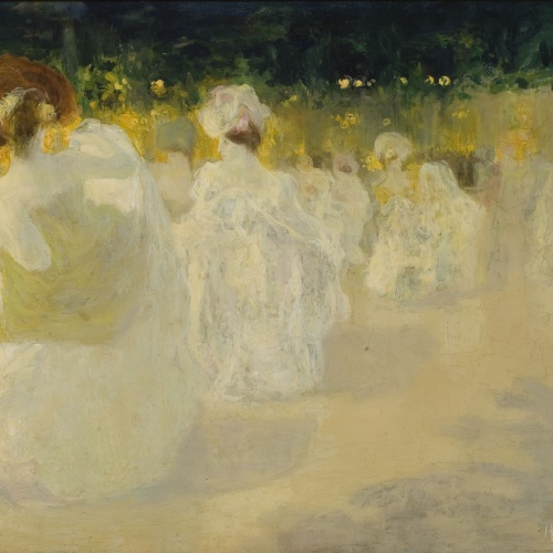 Hermen Anglada Camarasa - Le bal blanc - Hacia 1900