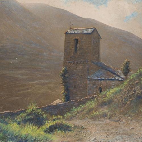 Miquel Renom - Untitled [Landscape with church] - Undated
