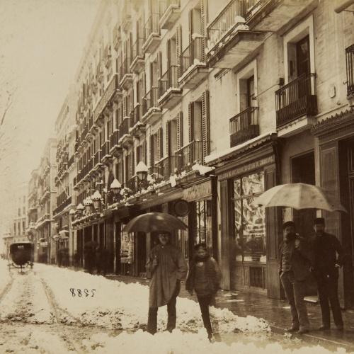 Antoni Esplugas Puig - Rambla del Centro nevada - Circa 1890