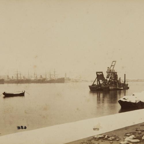 Antoni Esplugas Puig - Port in the snow - Circa 1890