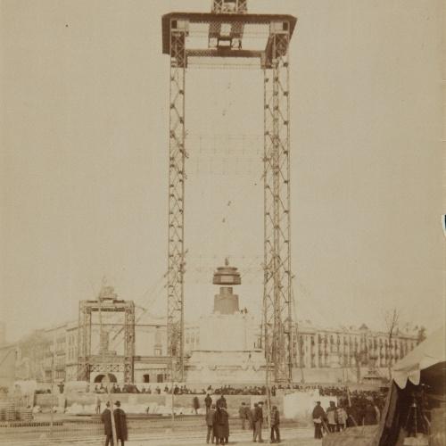Antoni Esplugas Puig - Scaffolding used in the construction of the monument to Columbus - Circa 1885