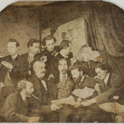 Napoleón. Establecimiento de daguerrotipo y fotografía. Barcelona - Retrat de grup - 1863