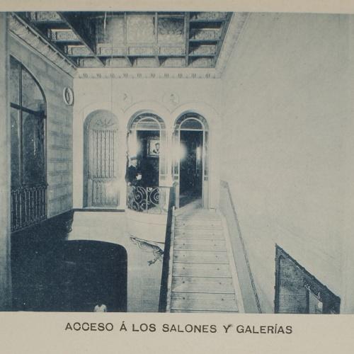 Napoleón. Establecimiento de daguerrotipo y fotografía. Barcelona - Estudi Fotogràfic Napoleón. Accés als salons i galeries - 1895