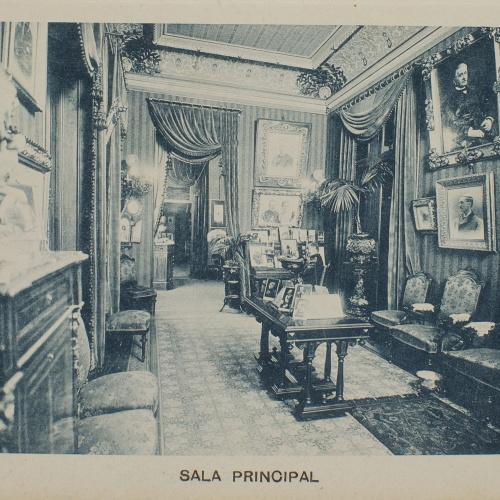 Napoleón. Establecimiento de daguerrotipo y fotografía. Barcelona - Estudi Fotogràfic Napoleón. Sala principal - 1895