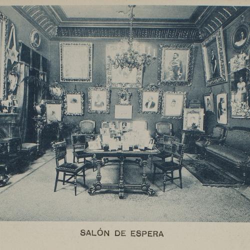 Napoleón. Establecimiento de daguerrotipo y fotografía. Barcelona - Estudi Fotogràfic Napoleón. Sala d'espera - 1895