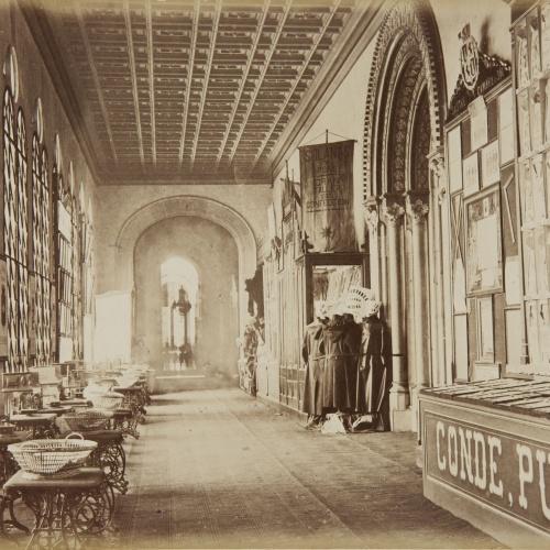 Joan Martí  - Pórtico central alto posterior, mirando al Oeste[, de la Universitat de Barcelona] - 1877