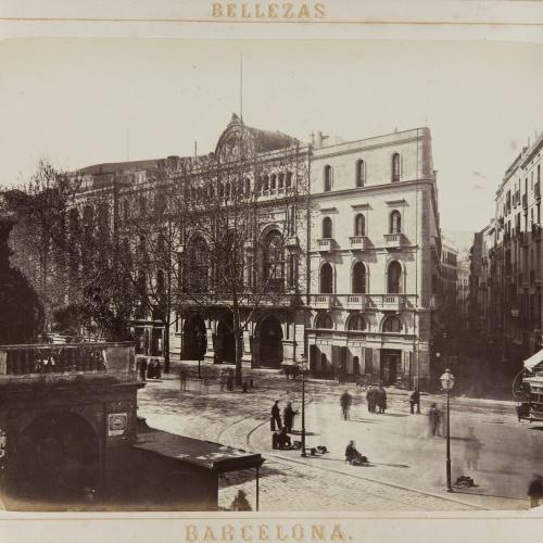 Joan Martí  - Plaza de la Boqueria y Liceo - 1874