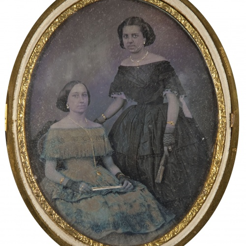 Moliné y Albareda. Barcelona - Portrait of two women - Circa 1860