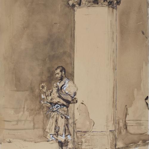 Marià Fortuny - La plegaria - Hacia 1871-1872