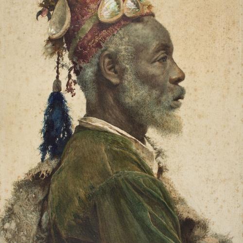 Josep Tapiró - The Darcawi Holy Man from Marrakesh - Circa 1890-1900