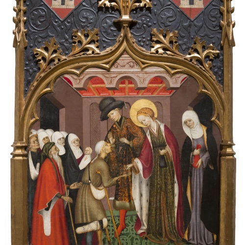 Bernat Martorell - Saint Lucy Giving Alms - Circa 1435