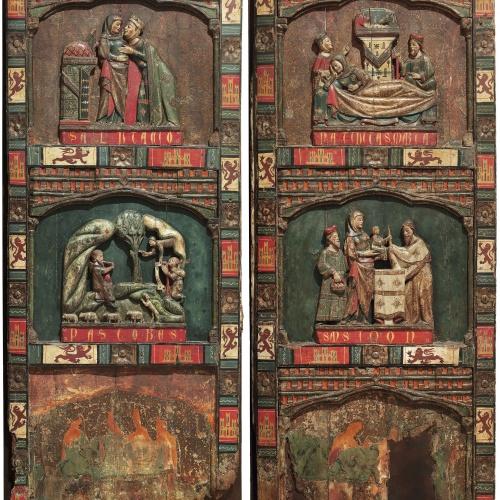 Anònim. Castella - Taules d'un retaule de la infantesa de Crist - Segona meitat del segle XIII