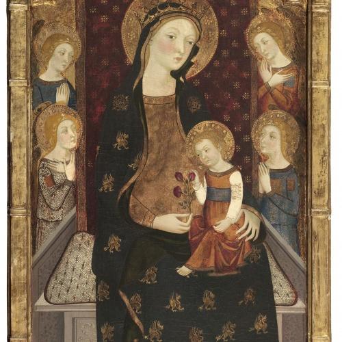 Jaume Serra - Mare de Déu amb el Nen i àngels - Cap a 1375-1385