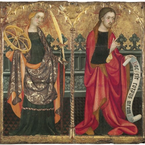 Lluís Borrassà - Saint Catherine of Alexandria and Christ - Circa 1411-1413