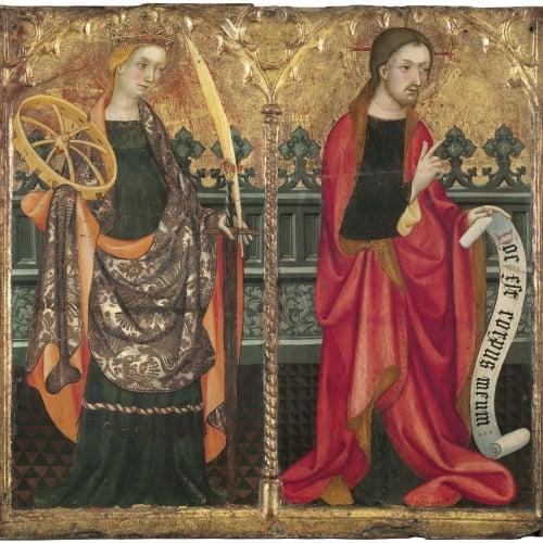 Lluís Borrassà - Saint Catherine of Alexandria and Christ - Circa 1411-1413