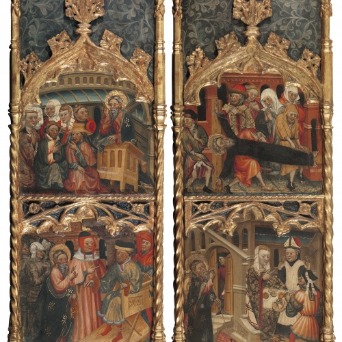 Pere Teixidor - Lateral sections from a retable of Saint Andrew - Circa 1430-1445