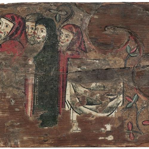 Anònim - Ofrena de sant Joaquim i santa Anna al Temple - Cap a 1300
