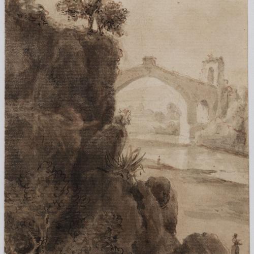 Adolphe Hedwige Alphonse Delamare - Pont del Diable de Martorell - 1825