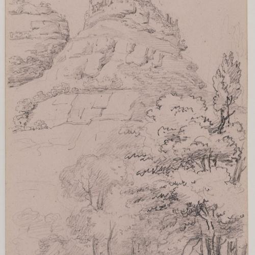 Adolphe Hedwige Alphonse Delamare - Castell de Sant Martí de Centelles - Cap a 1826