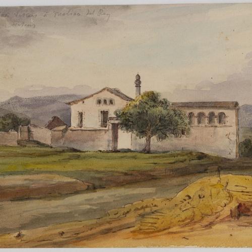 Adolphe Hedwige Alphonse Delamare - Masia al camí de Sant Vicenç dels Horts a Molins de Rei - Cap a 1826 o 1827