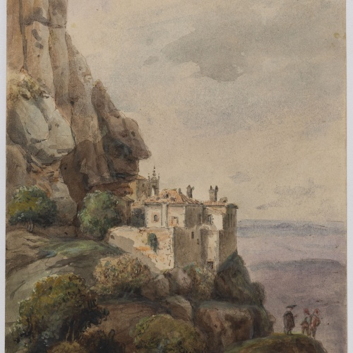 Adolphe Hedwige Alphonse Delamare - Capella de la Santa Cova de Montserrat - Setembre de 1826