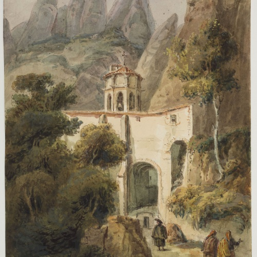 Adolphe Hedwige Alphonse Delamare - Entrada al Monestir de Santa Maria de Montserrat - Dijous 26 d'abril de 1827