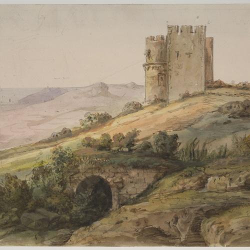 Adolphe Hedwige Alphonse Delamare - Castle of Montcada - 1827