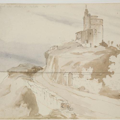 Adolphe Hedwige Alphonse Delamare - Ermita de Sant Pau a Sant Pol de Mar - 29 de novembre de 1827
