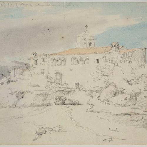 Adolphe Hedwige Alphonse Delamare - Església d'Ermedàs a Garrigàs - Dilluns 3 de desembre de 1827