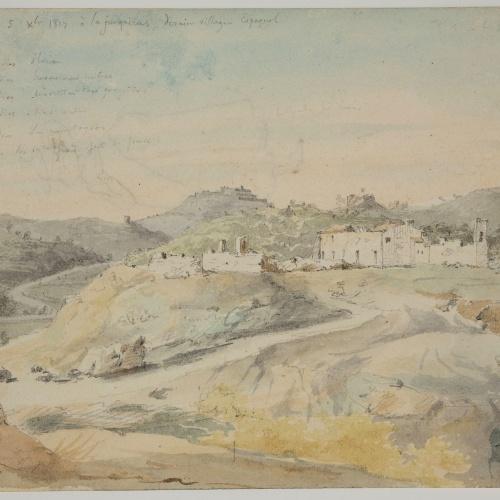 Adolphe Hedwige Alphonse Delamare - View of La Jonquera - 1827