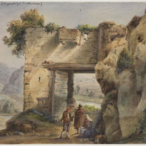 Adolphe Hedwige Alphonse Delamare - Porta a Sant Julià d'Andorra - Cap a 1825