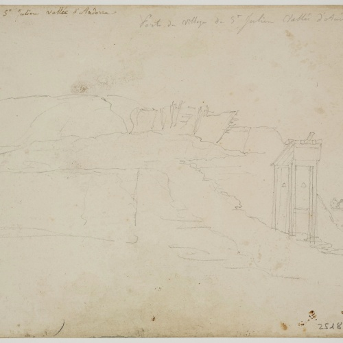 Adolphe Hedwige Alphonse Delamare - Door in Sant Julià d'Andorra - Circa 1825