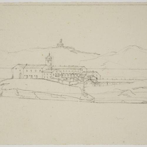 Adolphe Hedwige Alphonse Delamare - Convento del Desierto de San José de la Isla (cerca de Portugalete?) - Cap a 1824-1827