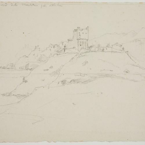 Adolphe Hedwige Alphonse Delamare - Vista amb la torre de Sa Mesquida a prop de Maó - Cap a 1824-1827