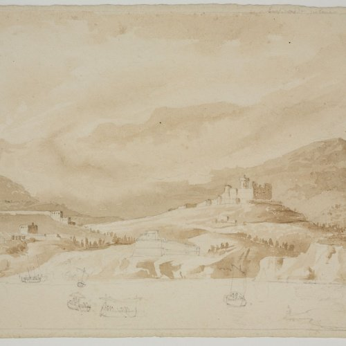 Adolphe Hedwige Alphonse Delamare - View of Palma - Circa 1824-1827