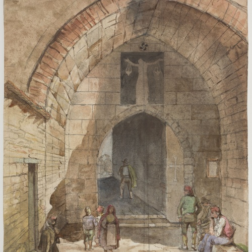 Adolphe Hedwige Alphonse Delamare - Petita porta que dona al camp a Vitòria - 3 octubre 1824