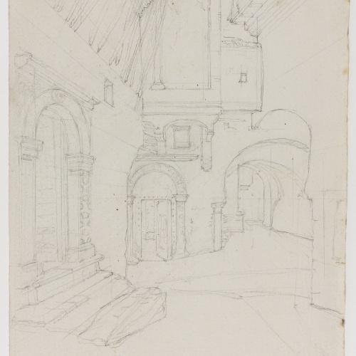 Adolphe Hedwige Alphonse Delamare - Arquitectura (Algèria?) - Cap a 1830