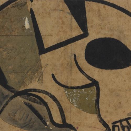 Josep Guinovart - Crani (anvers) / Cap de dona (revers) - 1954