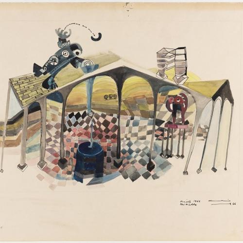 Aurèlia Muñoz - Projecte per a «Font de la vida» - 1966