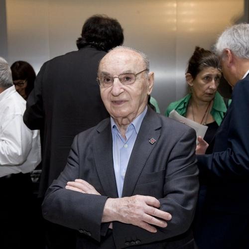 Joan Colom, acte de donació del seu arxiu al museu, 2012. Foto: Marta Mérida