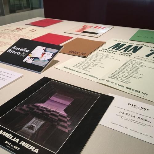 Exposició d'ephemera d'Amèlia Riera a la Biblioteca