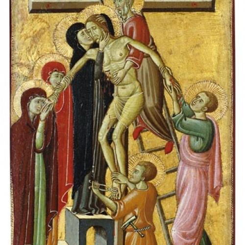 Mestre de Forlì - Davallament - 1300-1305