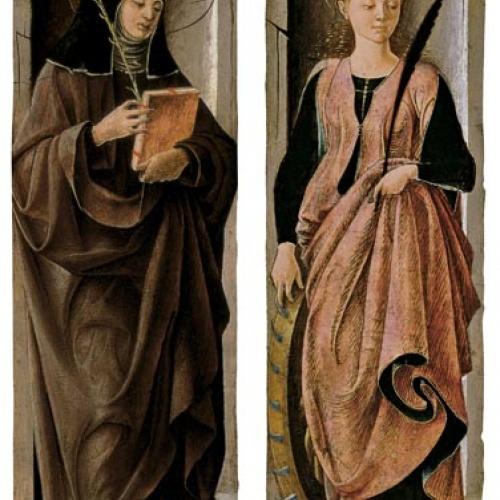 Francesco del Cossa - Santa Caterina i santa Clara - 1470-1472