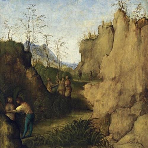 Giovanni Agostino da Lodi (Pseudo-Boccaccino) - Ladon i Siringa - Cap a 1515