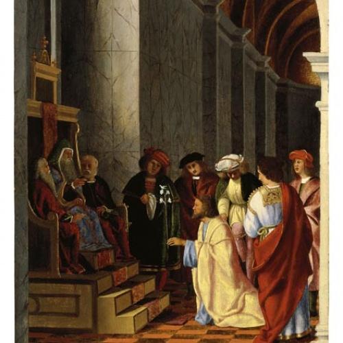 Lorenzo Lotto - Sant Josep i els pretendents de la Mare de Déu - Cap a 1508