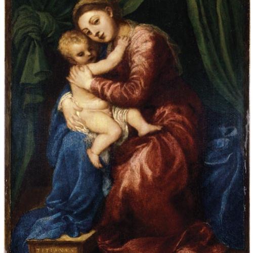 Tiziano Vecellio - Mare de Déu amb el Nen - Cap a 1545